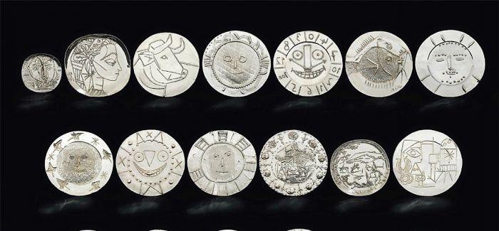 毕加索全套银盘以1988万港元的价格在香港拍出