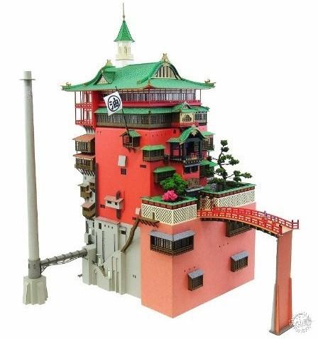 纸屋造景DIY模型,把吉卜力世界统统搬回家!第10张图片