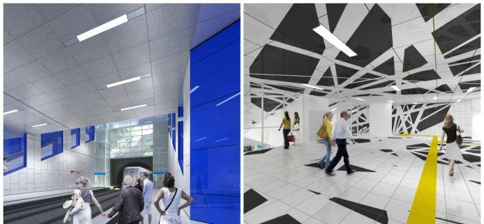 当你上班途中完全没有广告干扰:德国杜塞尔多夫打造一条完全没有广告的艺术地铁!