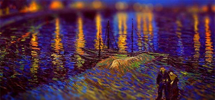 原来附带景深效果的梵高的油画这么好看呀