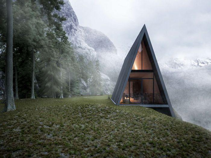 三角形悬崖之家