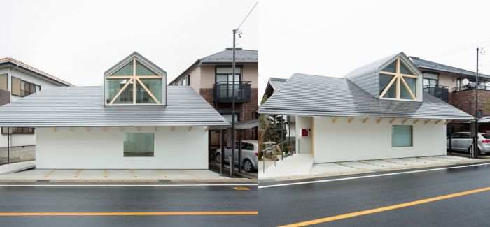 日本乡下一座有着大大老虎窗的住宅 House with Dormer Window