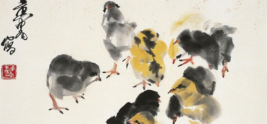 他被称为画坛驴贩子 他的国画鸡也令人直呼精彩