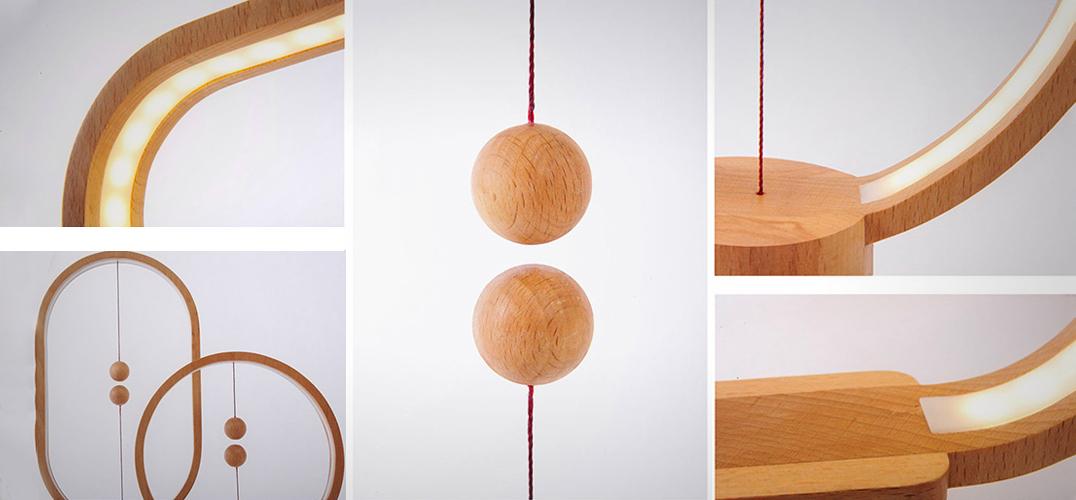 heng 木球磁吸桌灯 重新思考电灯开关的型态_设计