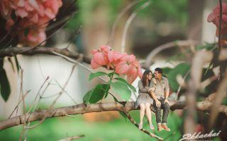 泰国婚纱摄影师把夫妻拍成了微缩小人