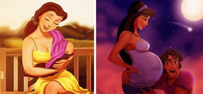 童话里不是骗人的 迪士尼的公主们也当妈妈啦