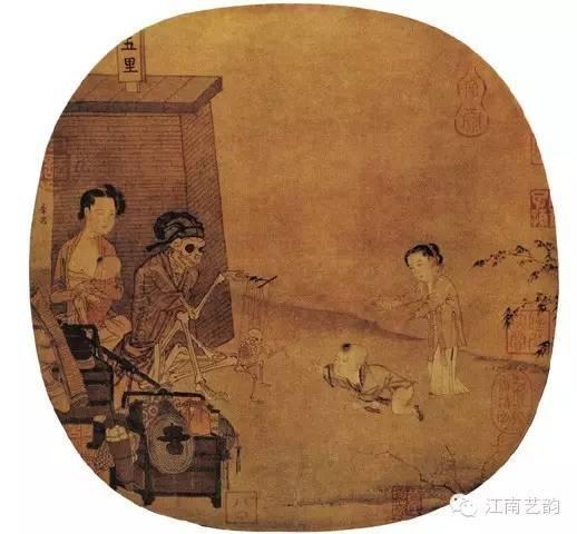 《骷髅幻戏图》 南宋 李嵩 26.3cm×27cm故宫博物院藏