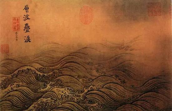 《水图》(局部)宋 马远,绢本设色北京故宫博物院藏