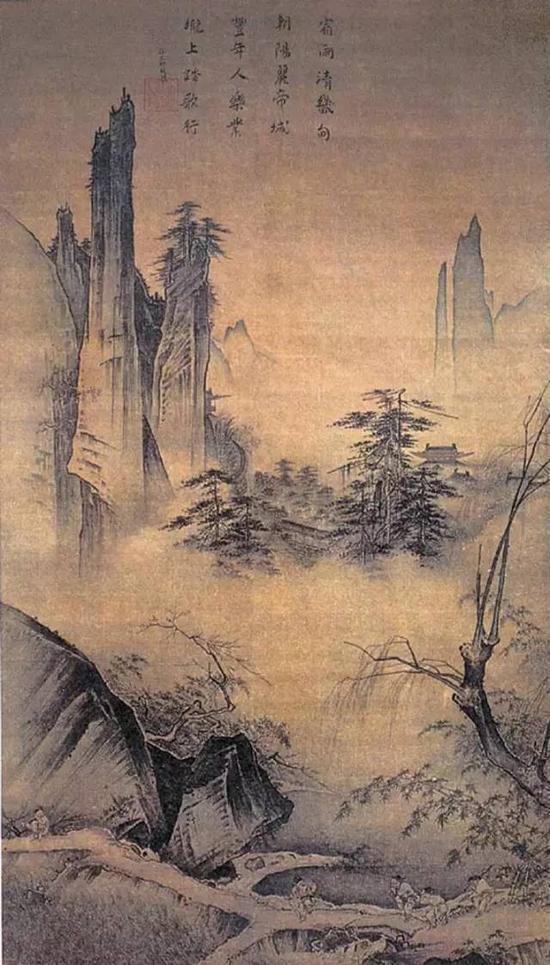 《踏歌图》 宋 马远 绢本淡设色 纵191.8厘米 横111厘米