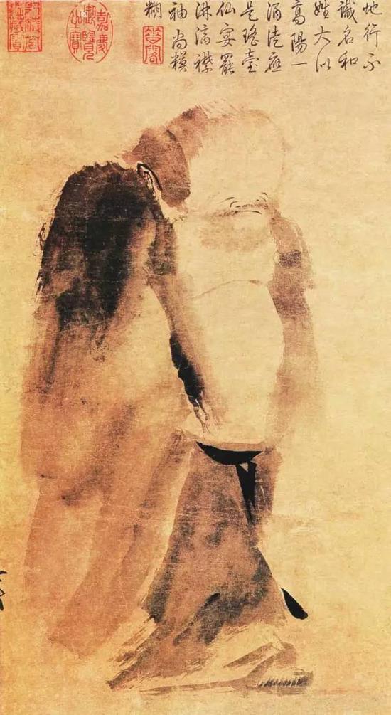 《泼墨仙人图》宋 梁楷 纸本水墨 高48.7厘米 宽27.7厘米台北故宫博物院藏