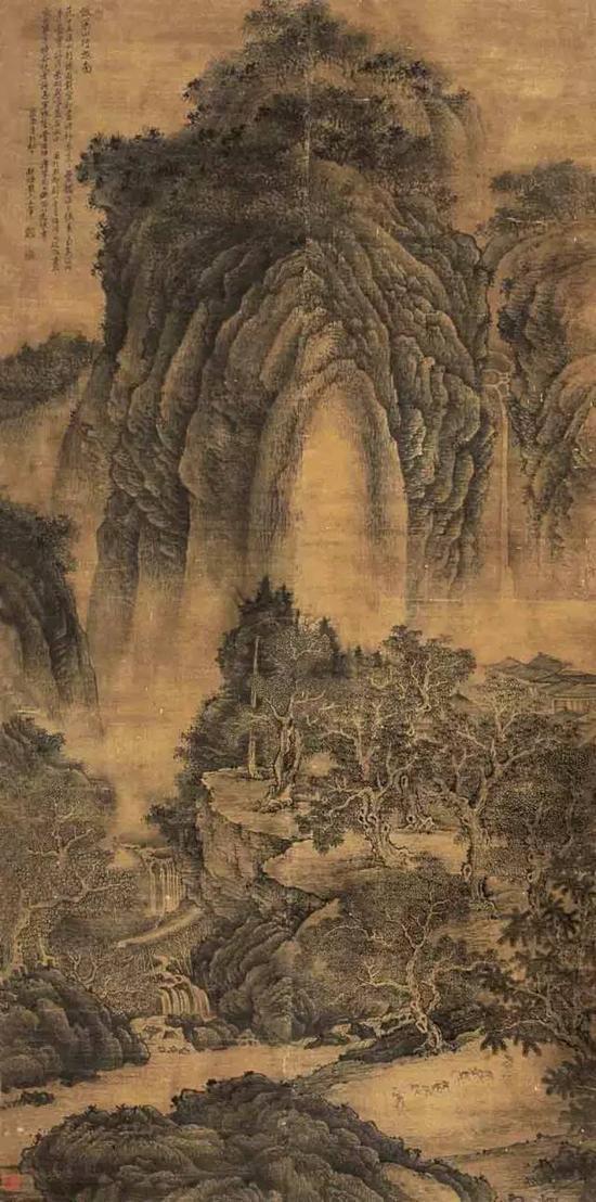 《溪山行旅图》北宋 范宽 绢本设色 206.3cm×103.4cm台北故宫博物院藏