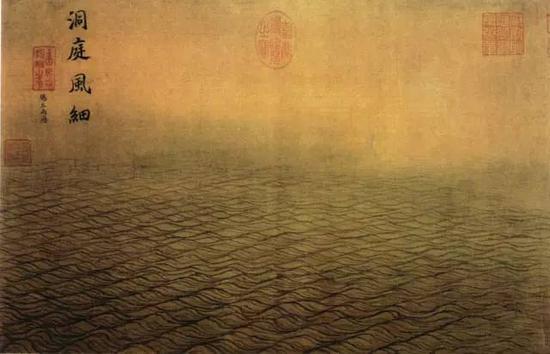 《西湖图卷》 宋 李嵩 纵26.7厘米,横85厘米,上海博物馆藏