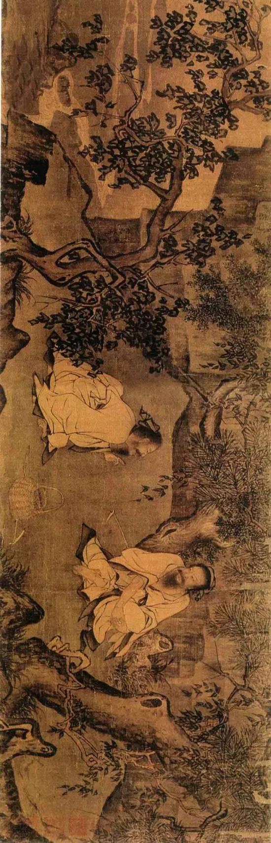 《采薇图》宋 李唐 绢本墨笔 纵27厘米 横90厘米北京故宫博物院藏