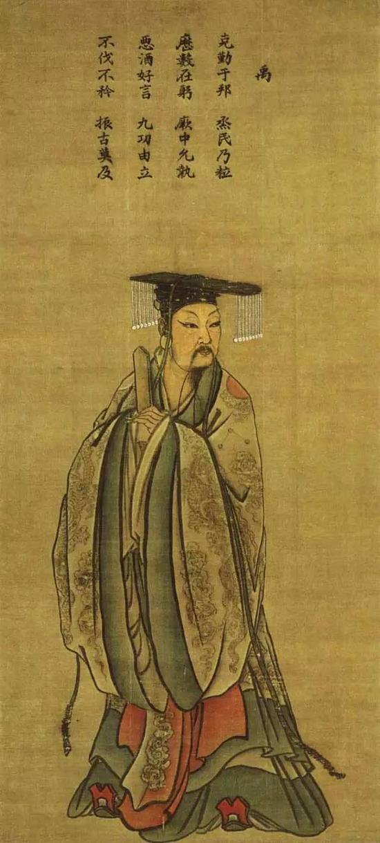 《夏禹王像》宋 马麟 绢本设色 纵249厘米 横113厘米台北故宫博物院藏