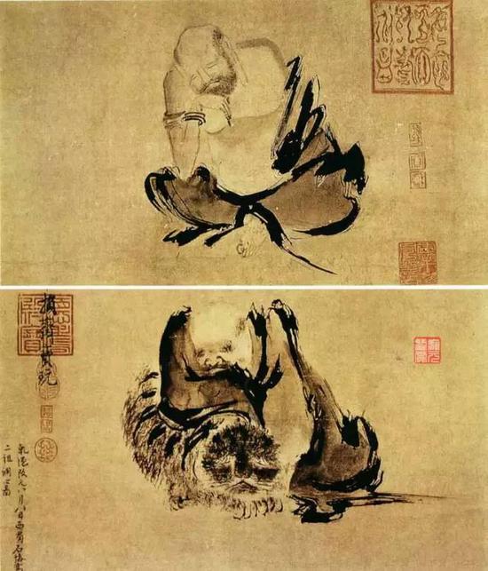 《二祖调心图》 宋 石恪 纸本水墨 35.5cm×129cm日本东京国立博物馆藏