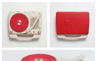 超可爱复古情怀 像玩具般的携带式唱片机!