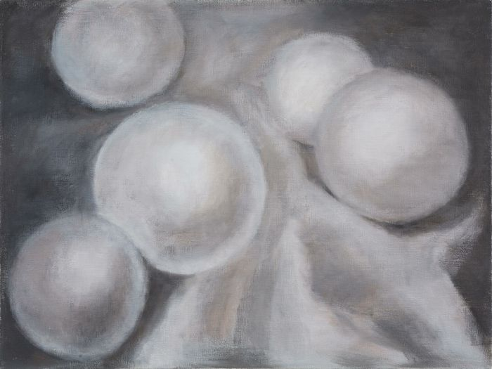 布上的珍珠Pearl on Canvas,90x120cm,布面油画oil on canvas,2016