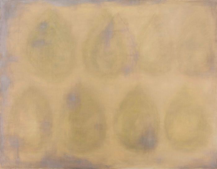 黄色的水滴Yellow Water-drop,195x250cm,布面油画Oil on canvas,2015-2016