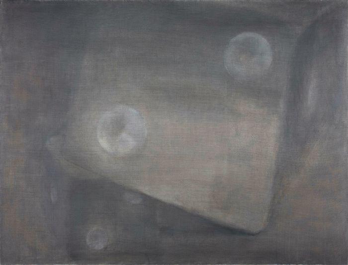 灰色的骰子Gray Dice,130x170cm,布面油画oil on canvas,2015