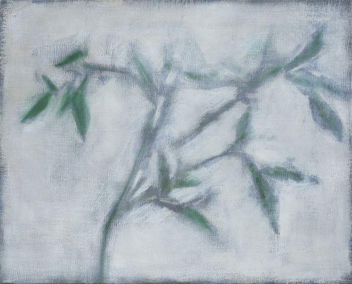 竹子Bamboo,65x80.5cm,布面油画画oil on canva,2016