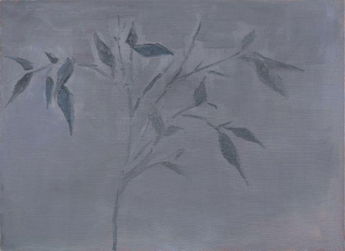 竹子Bamboo,90.5x123cm,布面油画画oil on canva,2016