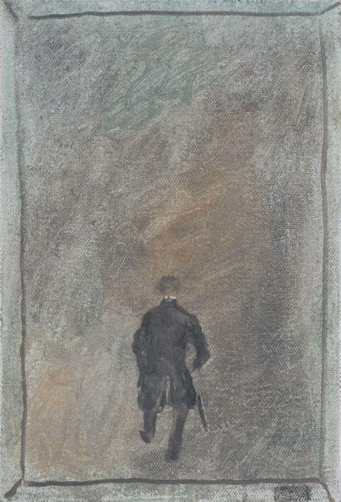 漫步Walking,30.5x20.5cm,布面油画画oil on canva,2015