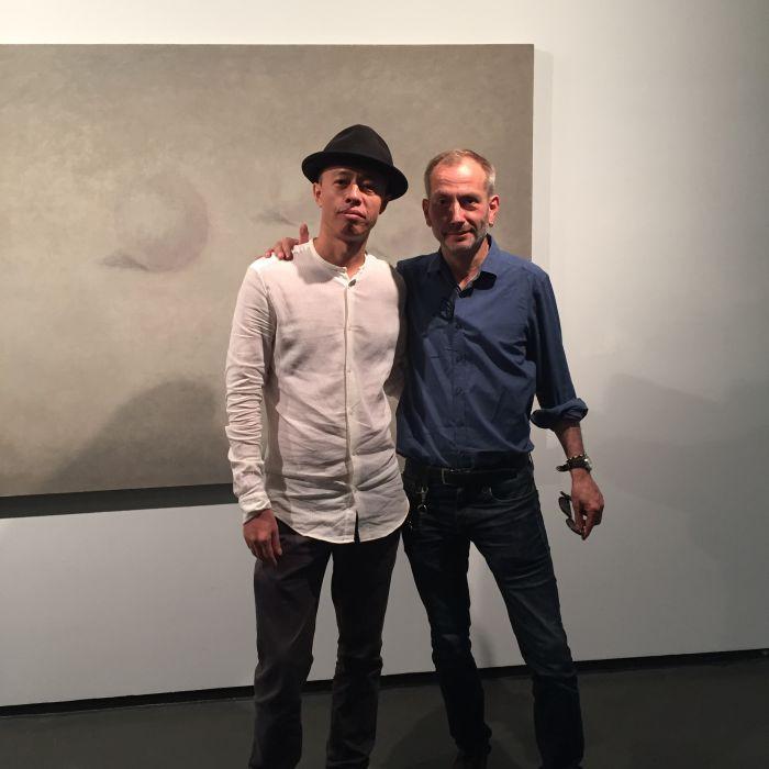 艺术家李大治(左)海恩兹-诺尔波特∙约克斯(Heinz-Norbert Jocks)(右)