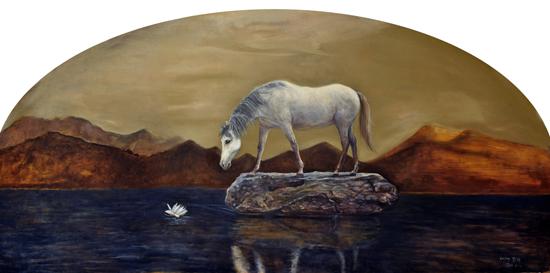 刘阳 理想之地—寂静之声 160x81cm 布面油画