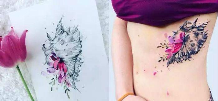 纹身就是青龙白虎大花臂 这个女孩告诉你什么叫做纹身艺术