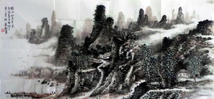 大壑无声——郭金服山水画巡展广州站开幕