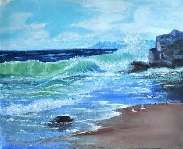 油画课 天空与海洋