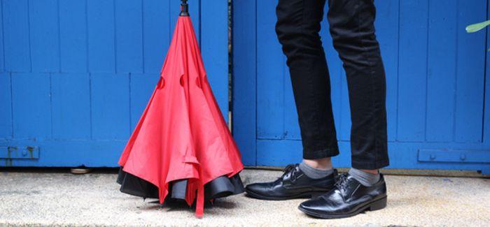 反向折叠伞  你见过吗?