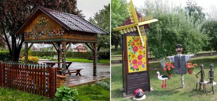 把鲜花画满墙:全球最清新浪漫的村庄