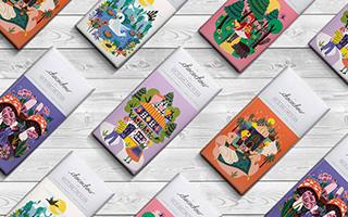 充满童话风格插画的巧克力包装设计