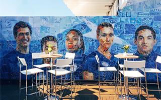 里约美国奥运村里的马赛克壁画