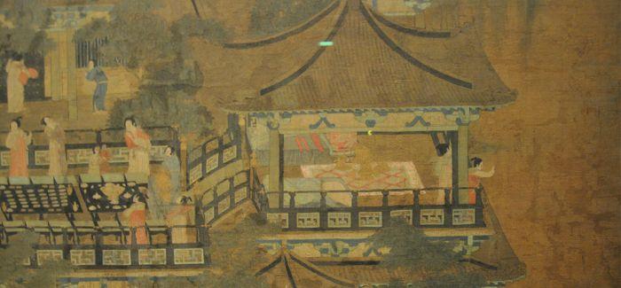 """绘画中的古建筑:""""乞巧图"""""""