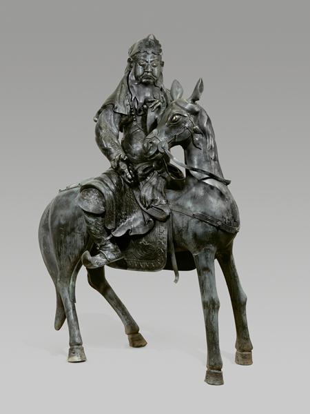 关羽骑赤兔青铜像原图