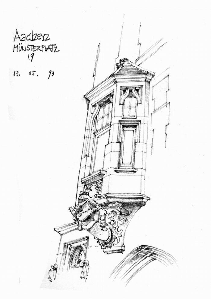 比利时钢笔画大师gérard michel作品