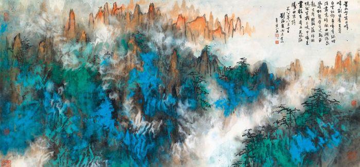 刘海粟画的十张丈二匹黄山图 王健林差一张就集齐了