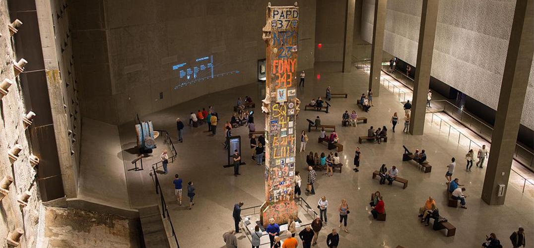 911遗址上的首次艺术特展:画笔难描之情