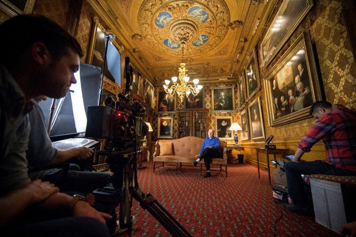 拍摄中的《查茨沃斯的珍宝》原图