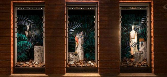 森海奇石  上海爱马仕之家秋季主题橱窗