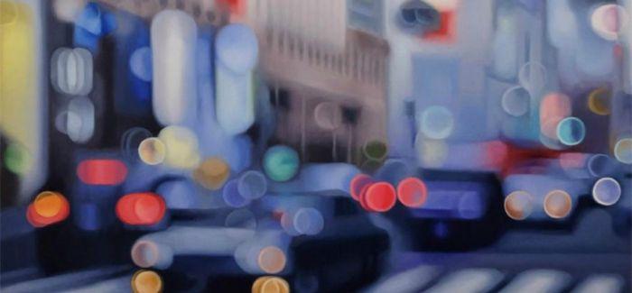 城市矇矓美 仿糊焦照片的油画作品
