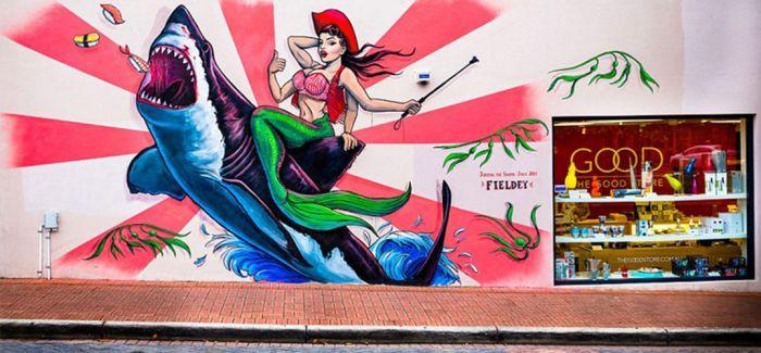 澳夫妻拍街头涂鸦吸引大批粉丝关注
