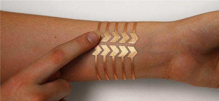 刺青贴纸大进化:DuoSkin 在未来你的皮肤能打电话