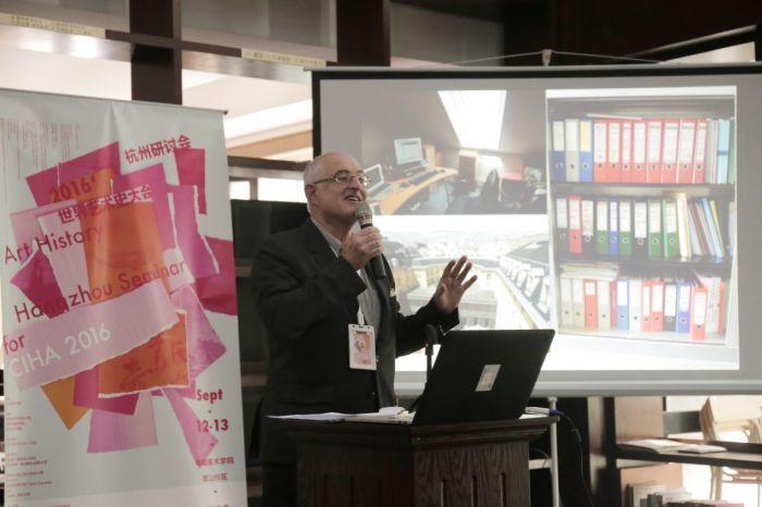 国际艺术史学会学术秘书蒂埃里·迪弗雷纳(Thierry Dufrêne)出席开幕式。