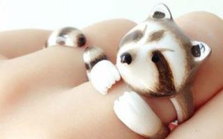 曼谷创意时尚品牌merryme创作小动物戒指组合