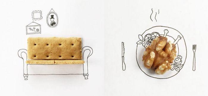 聪明的艺术家的日常插图创造性的解释日常小物品