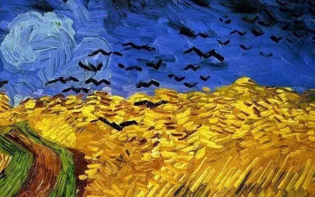 艺术家  ▲梵高 《麦田里的丝柏树》 高更的秋天,主观感受强烈,色彩