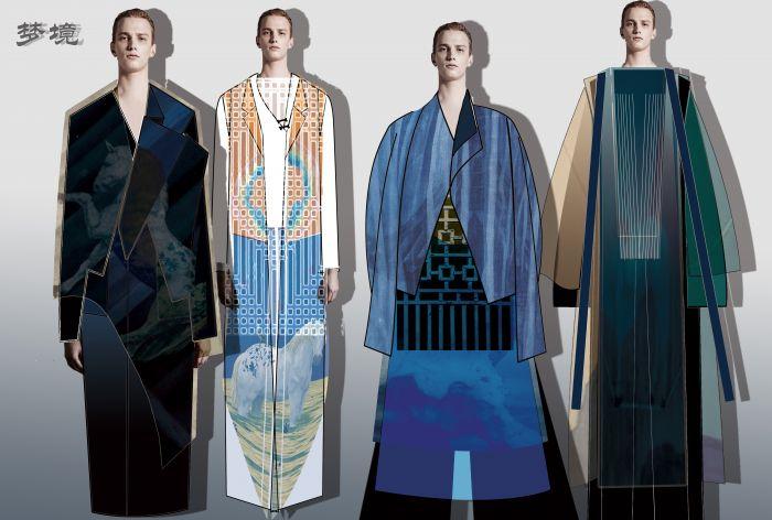 《梦境》(农琼丹 无月服装设计工作室) 作品说明:设计灵感来源于艺术